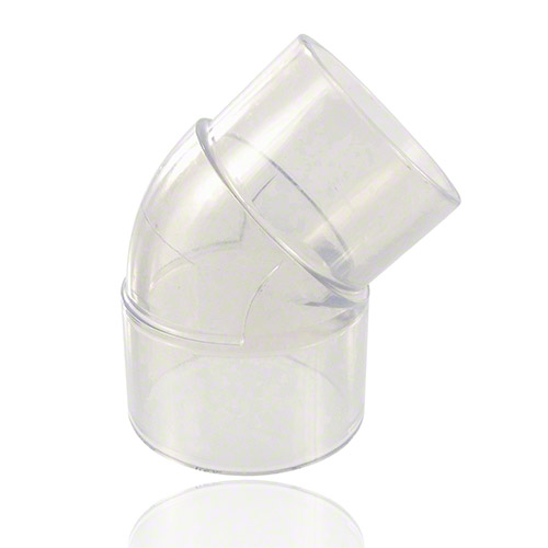 PVC U Transparent Street Elbow 45° - Inch