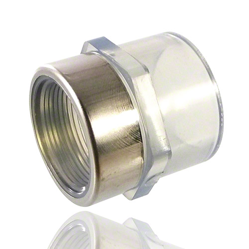 PVC U Transparent Adaptor Socket - Inch