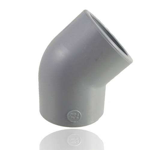 PVC-C Elbow 45°, with solvent weld sockets