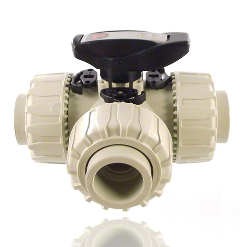 PP 3-Way Ball Valve L-port ball