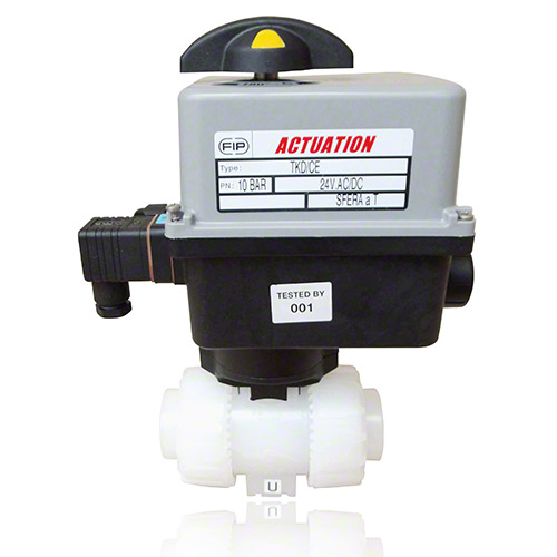Electrically actuated  2-Way Ball Valve