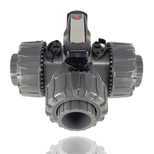 PVC U 3-Way Ball Valve L-port ball