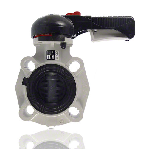 PVC-U Butterfly valve FK, Hand operated, FPM