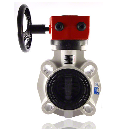 PVC-U Butterfly valve FK, with gear box/EPDM