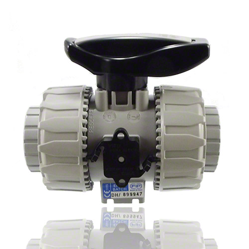 PVC-C 2-Way Ball Valve, with female ends for solvent welding, metric series, EPDM