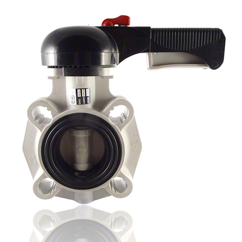 PVC-C Butterfly Valve, hand operated, EPDM