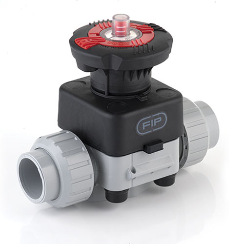 PVC-C Diaphragm Valve with union female ends for solvent welding, EPDM