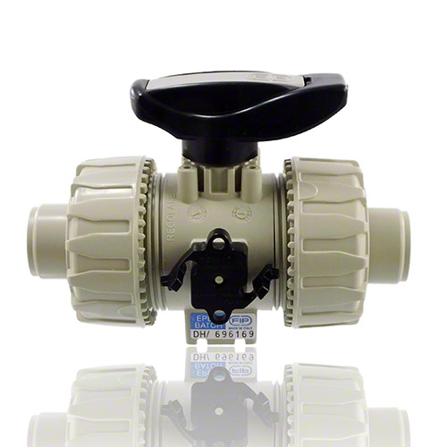 PP 2-Way Ball Valve with male ends for socket welding, metric series, EPDM