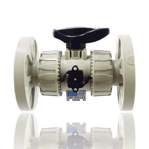PP  2-Way Ball Valve with fixed flanges, drilled EN/ISO/DIN PN 10/16, according to EN 558-1, EPDM