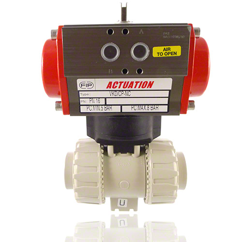 Pneumatically actuated  2-Way Ball Valve
