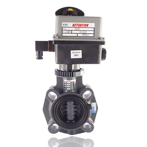 Electrically actuated, PVC-U Butterfly Valve