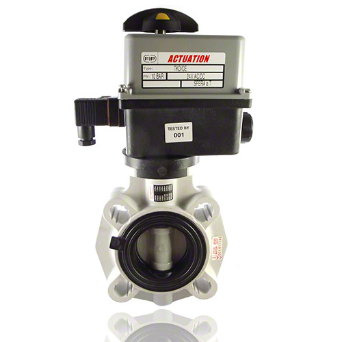 Electrically actuated, PVC -C Butterfly Valve
