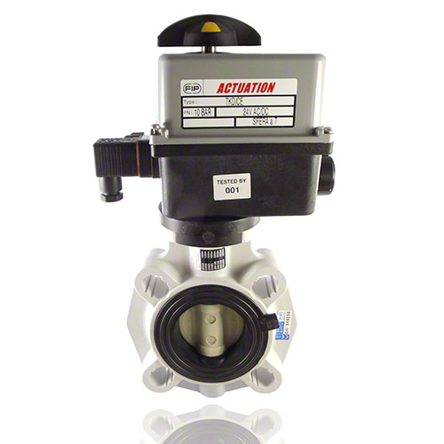 Electrically actuated, PP Butterfly Valve
